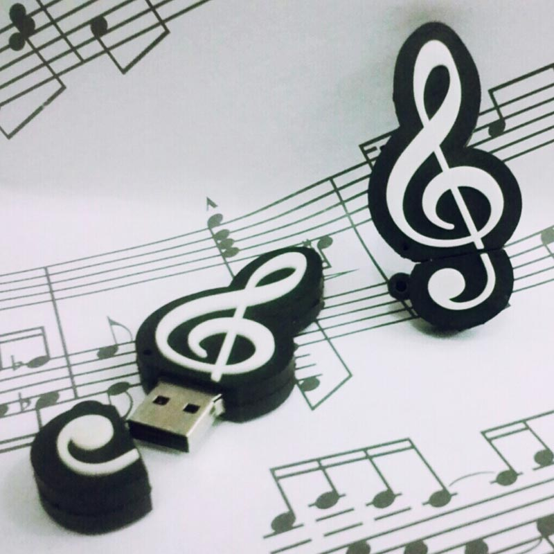 usb flash memory g clef 16gb allegria music store. Black Bedroom Furniture Sets. Home Design Ideas